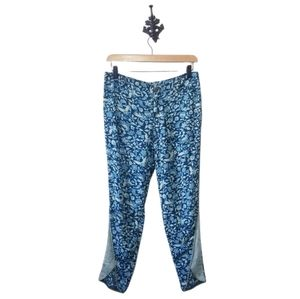 Free People Boho Rayon Floral Joggers Size 0 (fit large) EUC